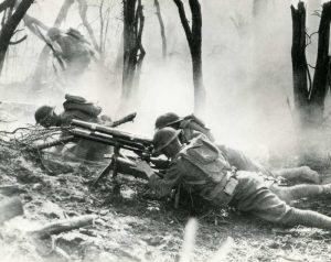 Scene from Muese Argonne Forest Offensive World War I