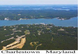 Aerial View of Charlestown, Md.