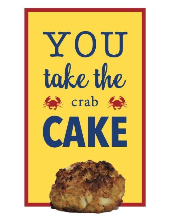 You Take Crab Cake Greeting Card Product Photo