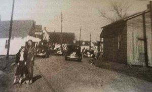 Saxis Road in the 1940s: Saxis, Virginia