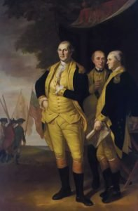Tench Tilghman with Washington and Lafayette in Charles Willson Peale Painting