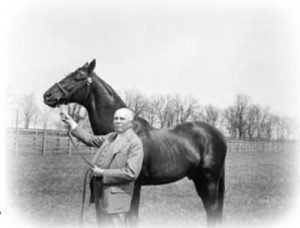 Man o' War Owner Sam Riddle with Horse