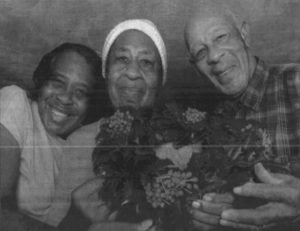 Atlantic, Va. Family with Holly Wreath Norman Davis and Luevenia Watson