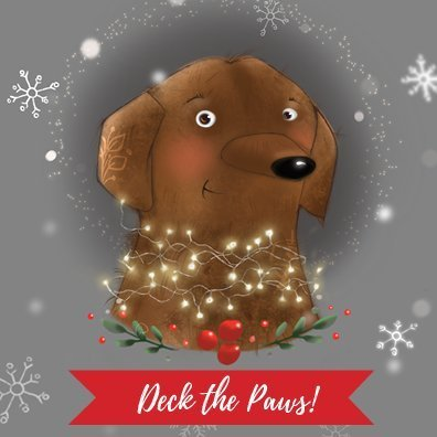 Deck the Paws Canvas Block Product Image