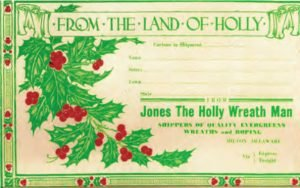 From the Land of Holly Shipping Label