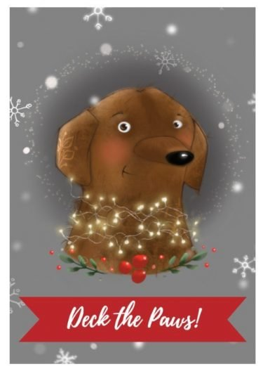 Deck the Paws Holiday Card by Secrets of the Eastern Shore