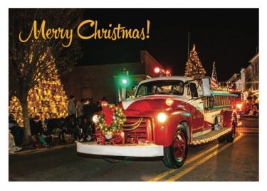 Christmas Parade Holiday Card for Secrets of the Eastern Shore
