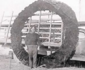 William Jones with Giant Milton Holly Wreath