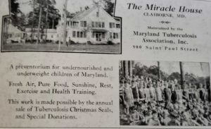 Advertisement for the Miracle House in Claiborne, Md.