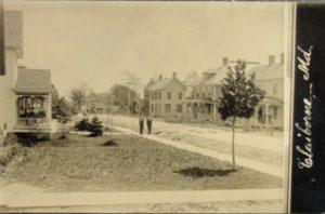 Claiborne, Maryland Street Scene from Postcard Postmark 1920