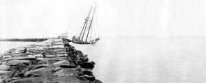 The Delaware Breakwater in late 1800s
