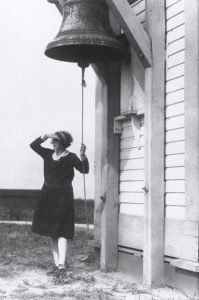 Fannie May Salter with Fog Bell at Turkey Point Light-Credit to Turkey Point Light