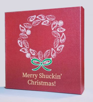 Merry Shuckin Christmas Canvas Block