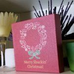 Merry Shuckin Christmas Canvas Block on Shelf