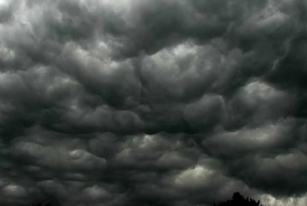Storm Clouds for Sharps Island Light Wild Ride Featured Photo