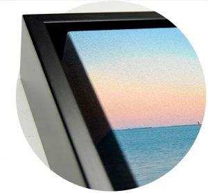 Floating Frame Canvas Detail