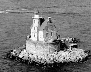 The Race Rock lighthouse of Long Island Sound
