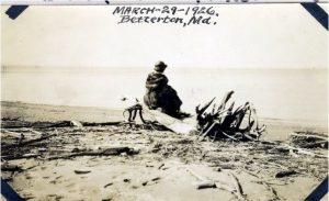 Womann on Betterton Beach 1926