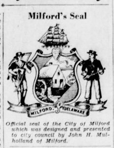 Milford City Seal Unveiled in News Journal (1)