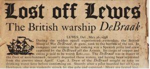 Shipwreck DeBraak Headline